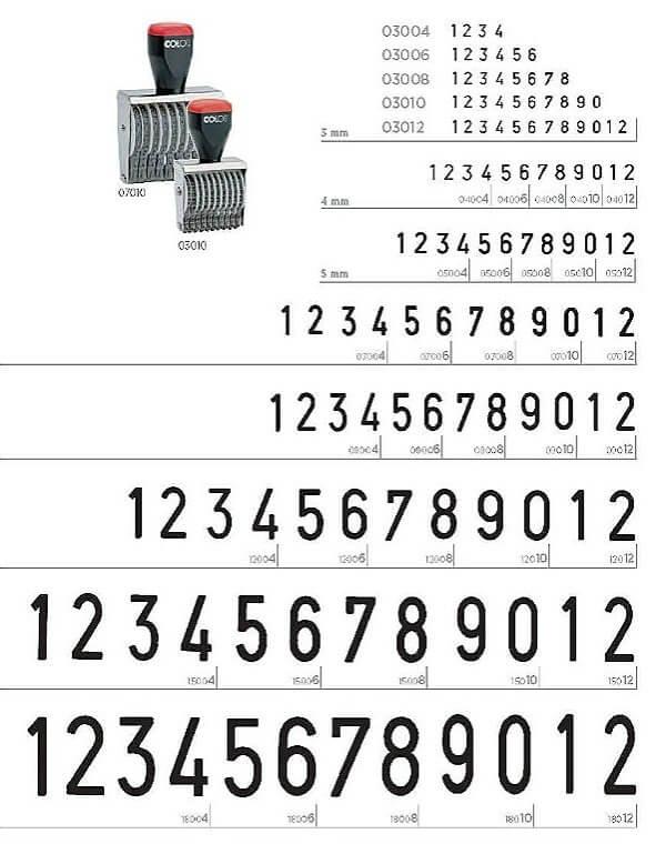 Højmoderne Båndstempel med tal eller bogstaver | Bestil hos I.E. Andersen US-37