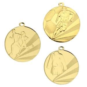 Medaljer støbte med fast motiv